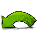 Undo, Arrow OliveDrab icon