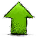 Up, Arrow OliveDrab icon