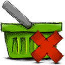 Deny, Basket OliveDrab icon