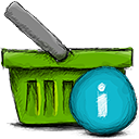 Basket, Info OliveDrab icon