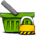 Basket, locked OliveDrab icon