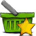 Starred, Basket OliveDrab icon
