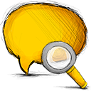 search, Comment Gold icon