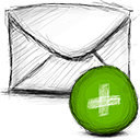 Email, Add OliveDrab icon