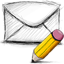 Email, Edit Black icon