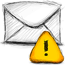 Email, Error Gold icon