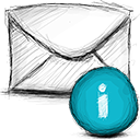 Email, Info Black icon