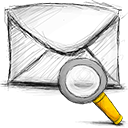 Email, search Black icon