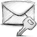 Encrypted, Email Gainsboro icon