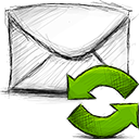 Email, refresh OliveDrab icon