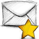 Starred, Email Black icon