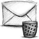 Trash, Email Black icon