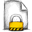 File, locked Black icon
