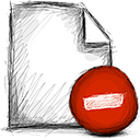 delete, File Firebrick icon