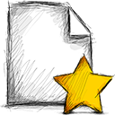 Starred, File Black icon