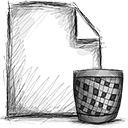 File, Trash Black icon