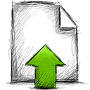 File, upload Black icon
