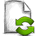 File, refresh OliveDrab icon