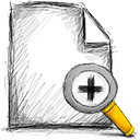 zoom, File, In Black icon