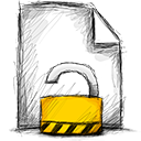 Unlocked, File Black icon