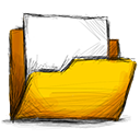 Folder, Full Gold icon