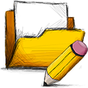 Folder, Edit Gold icon