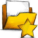 Folder, Starred Gold icon