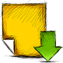 download, Note Gold icon