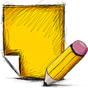 Edit, Note Gold icon
