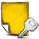 Note, Encrypted Gold icon