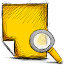 Note, search Gold icon