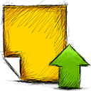 upload, Note Gold icon