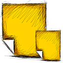 Notes Gold icon