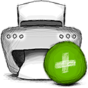Add, printer OliveDrab icon