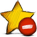 delete, star Gold icon