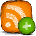 Add, Rss DarkOrange icon