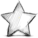 star, Empty Black icon