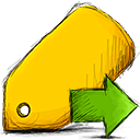 Move, tag Gold icon