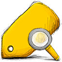 tag, search Gold icon