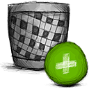 Add, Trash OliveDrab icon