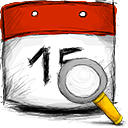 date, search Firebrick icon