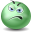 green, Displeased MediumSeaGreen icon