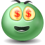 Money SeaGreen icon