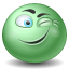 wink MediumSeaGreen icon