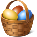 eggs, easter, Basket SaddleBrown icon