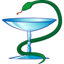 cup, snake Black icon