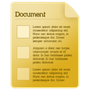 document Goldenrod icon
