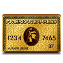 american, gold, express Black icon