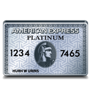 american, platinum, express Black icon