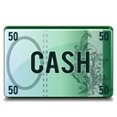 Cash Black icon